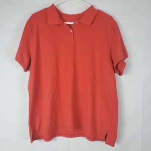 L.L. Bean XL Relaxed Fit Light Red Mens Polo Shirt